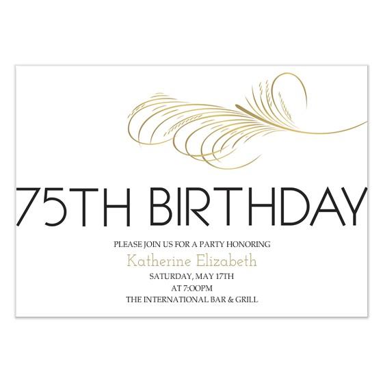 75th birthday invitation