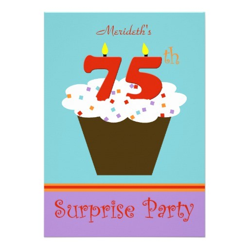 surprise 75th birthday party invitation 161754055536510908