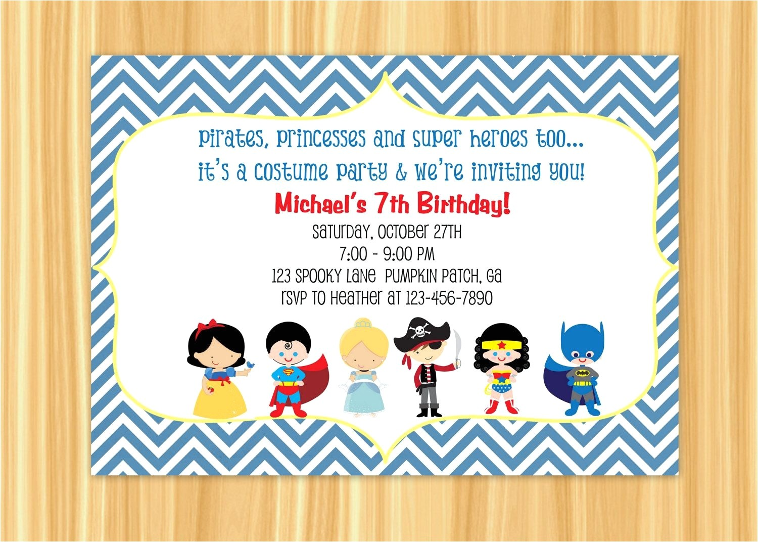 invitation card 7th birthday boy lovely 7th birthday invite