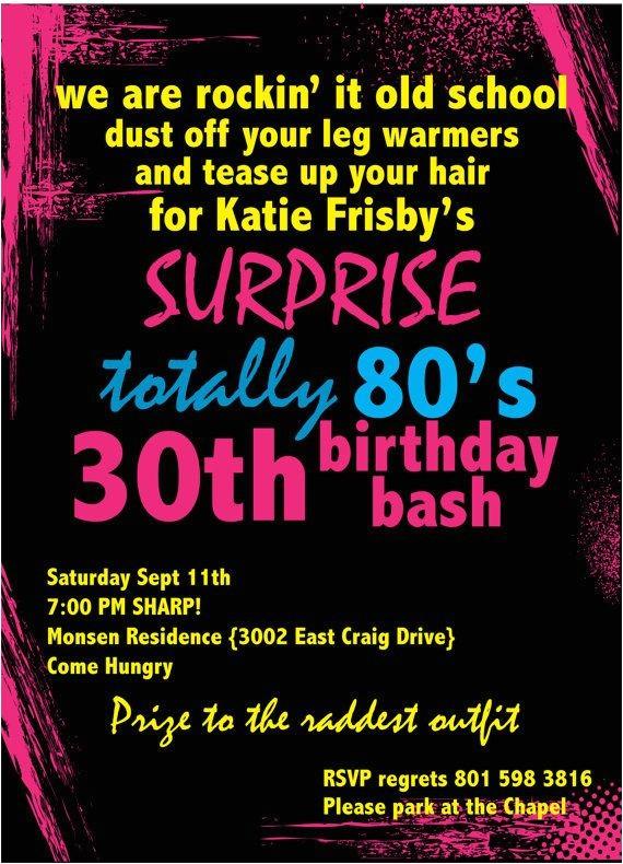 80 Birthday Invitation Ideas Printable Birthday Invitation totally 80 39 S Party by