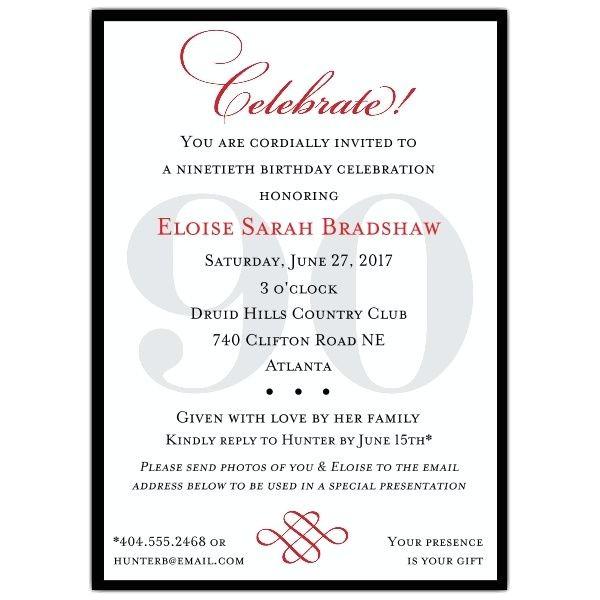 80th Birthday Invitation Wording 25 Best Ideas About 80th Birthday Invitations On