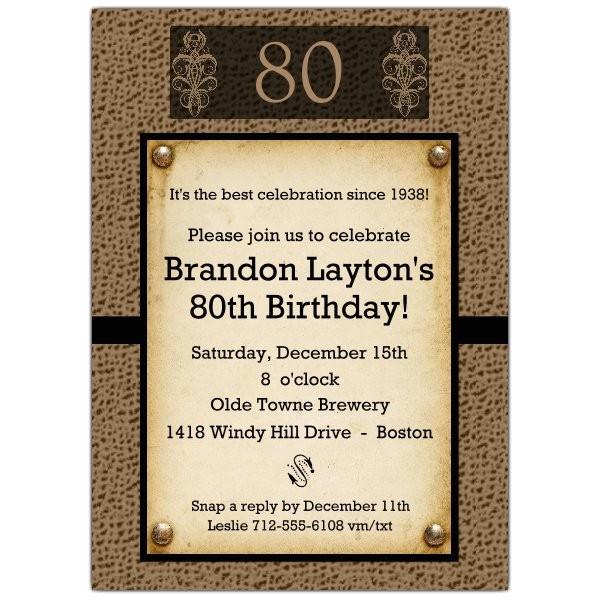 snakeskin antique 80th birthday invitations p 606 57 ab02 80