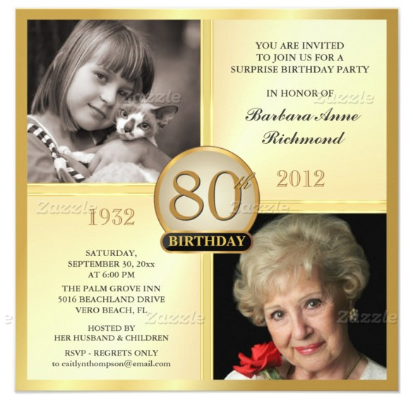 80th Birthday Invitations Templates Free 26 80th Birthday Invitation Templates Free Sample