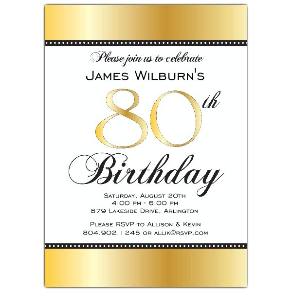 invitation template 80th birthday