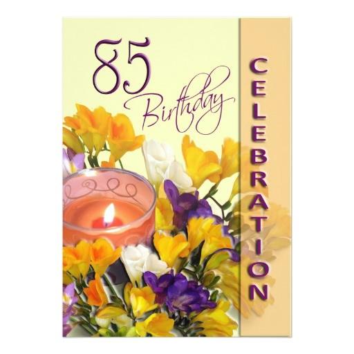 85th birthday celebration party invitation 161151253293200054