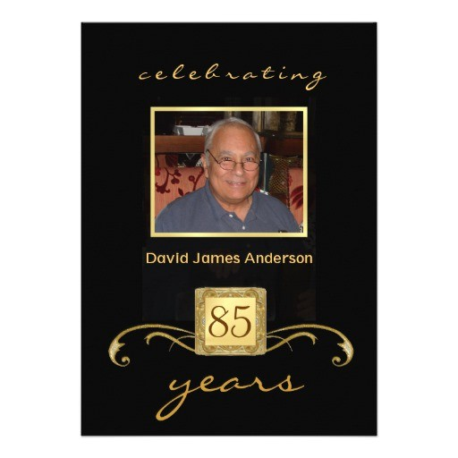 surprise 85th birthday party invitations