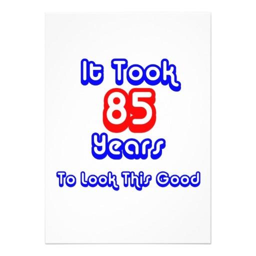 85th birthday party invitations