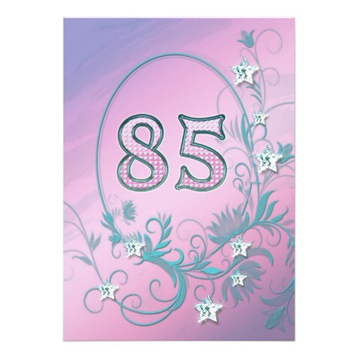 85 Birthday Party Invitations Birthday Party Invitation 85 Years Old