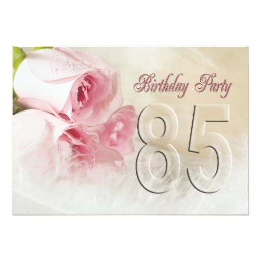 birthday party invitation for 85 years 161764356090696594