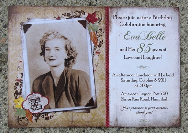 85th Birthday Invitation