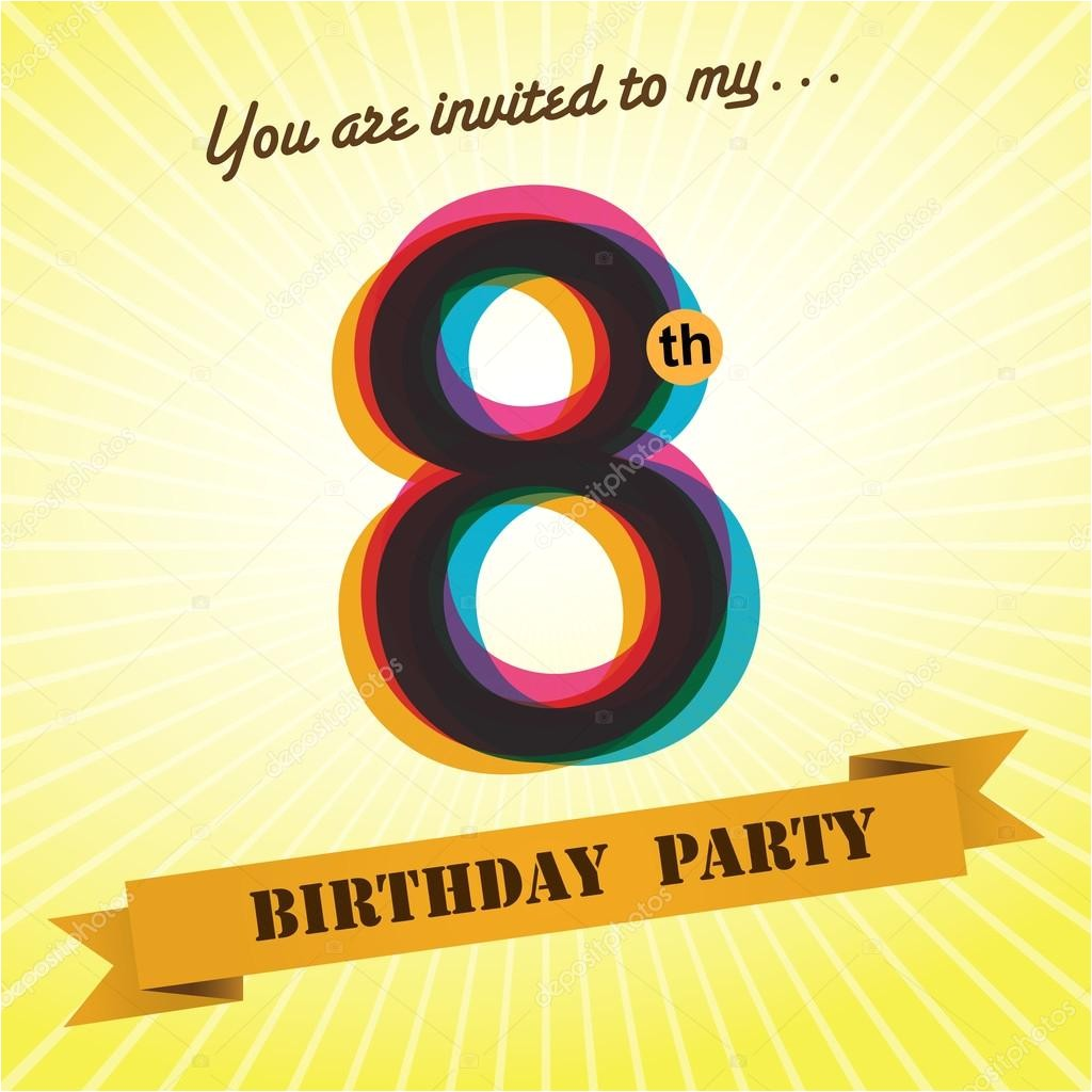 8th birthday party invitations