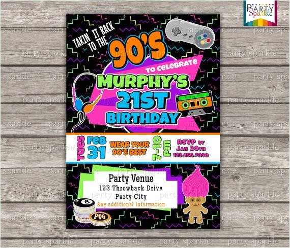 takin it back to the 90s retro birthday