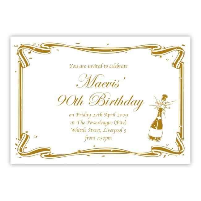 90th birthday party invitations with a outstanding invitations specially designed for your birthday invitation templates 5