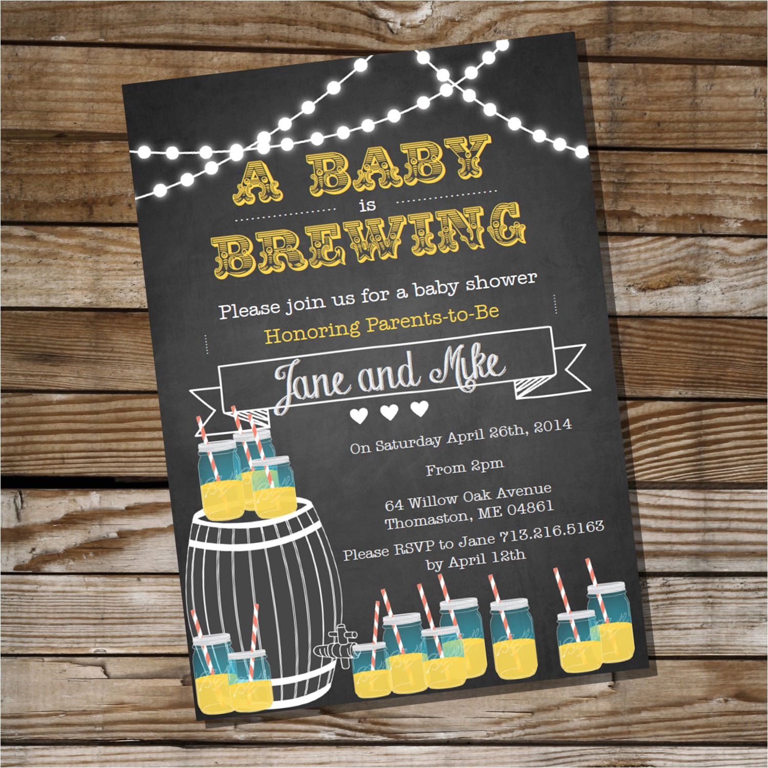 baby is brewing baby shower for a boy or