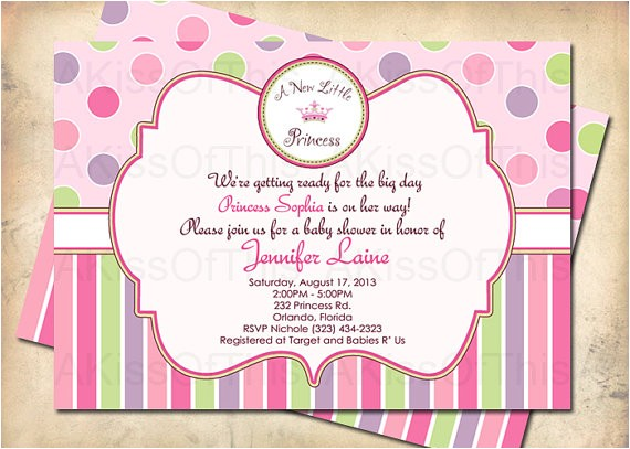 a new little princess baby shower