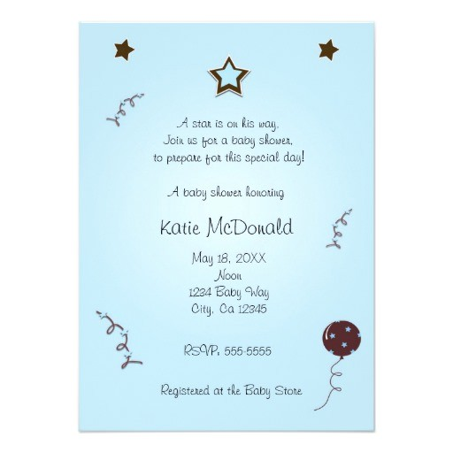 a star is born baby shower 1st birthday invitation