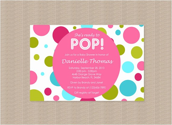 about to pop baby shower invitations in