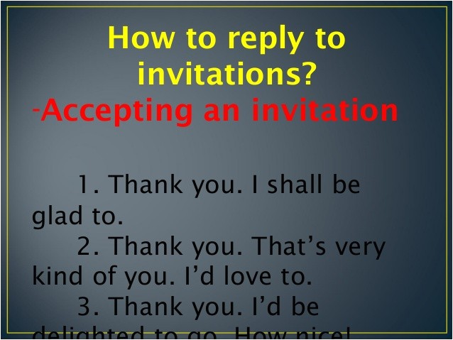 invitations and replies to invitations 18296600