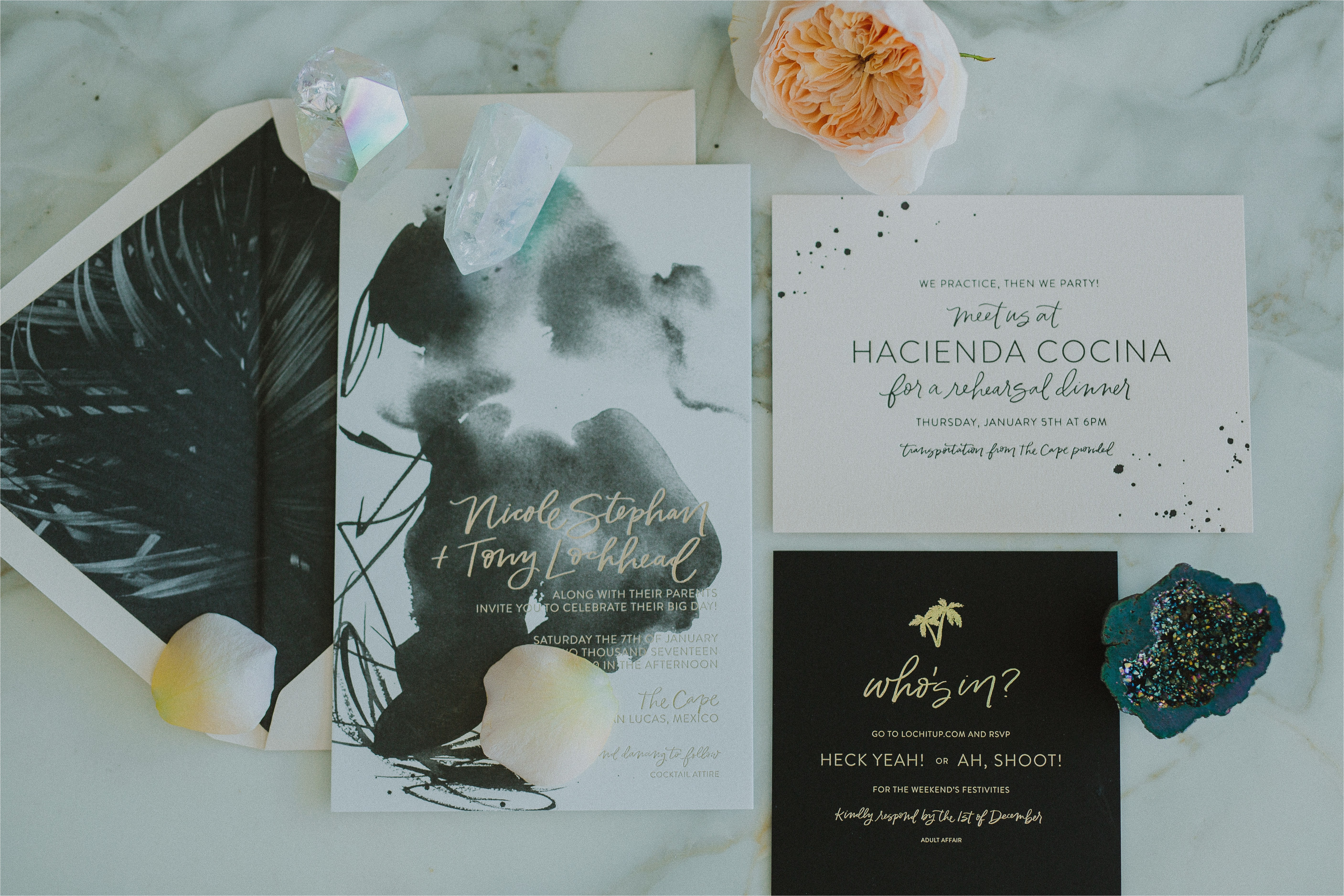 addressing bridal shower invitations to mother and daughter