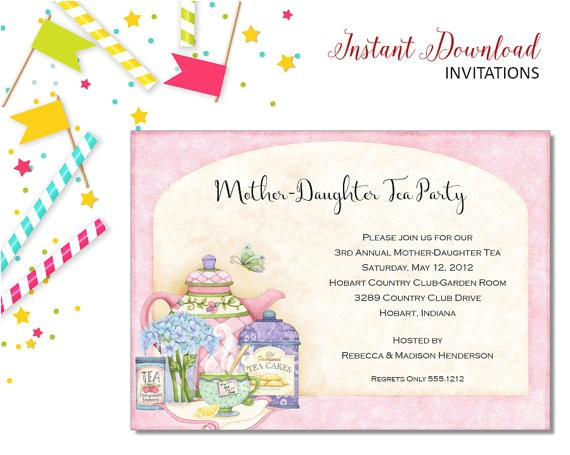 mother daughter tea invitation bridal shower