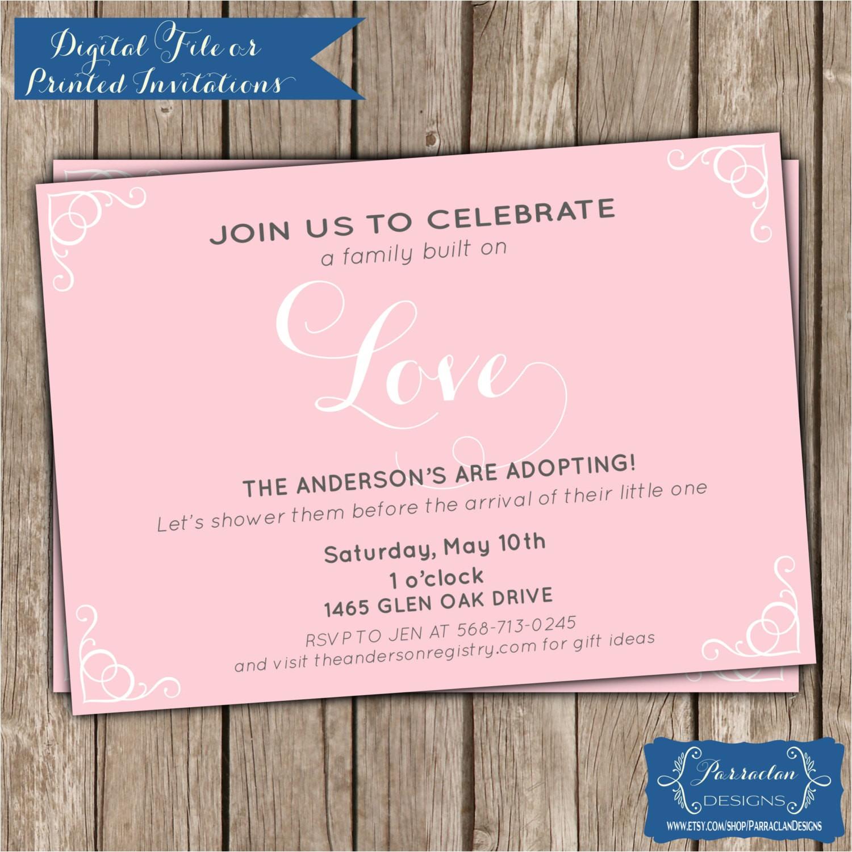 adoption shower invitation adoption baby