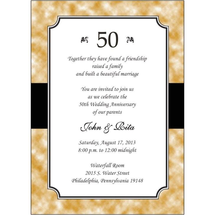 12 sample photos 50th wedding anniversary invitations cheap nice cheap wedding anniversary invitations 2