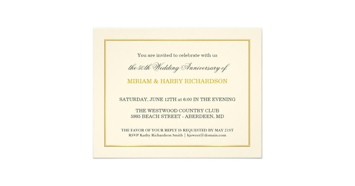 50th wedding anniversary inexpensive invitations 161106341056164554