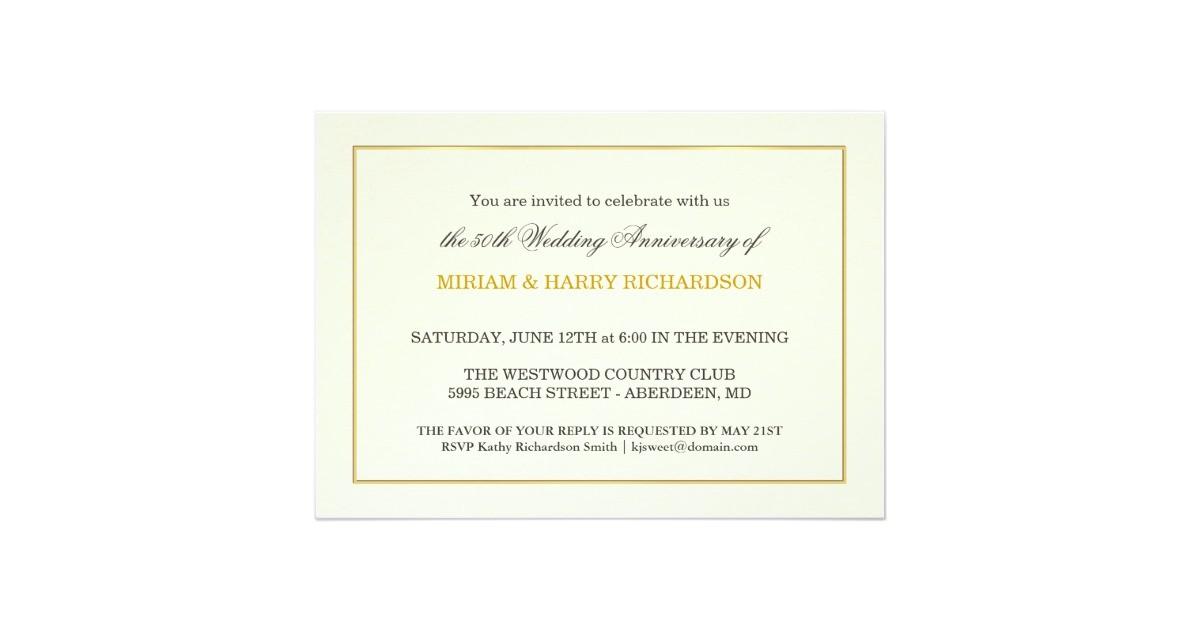 elegant 50th anniversary invitations inexpensive 161126601715763259