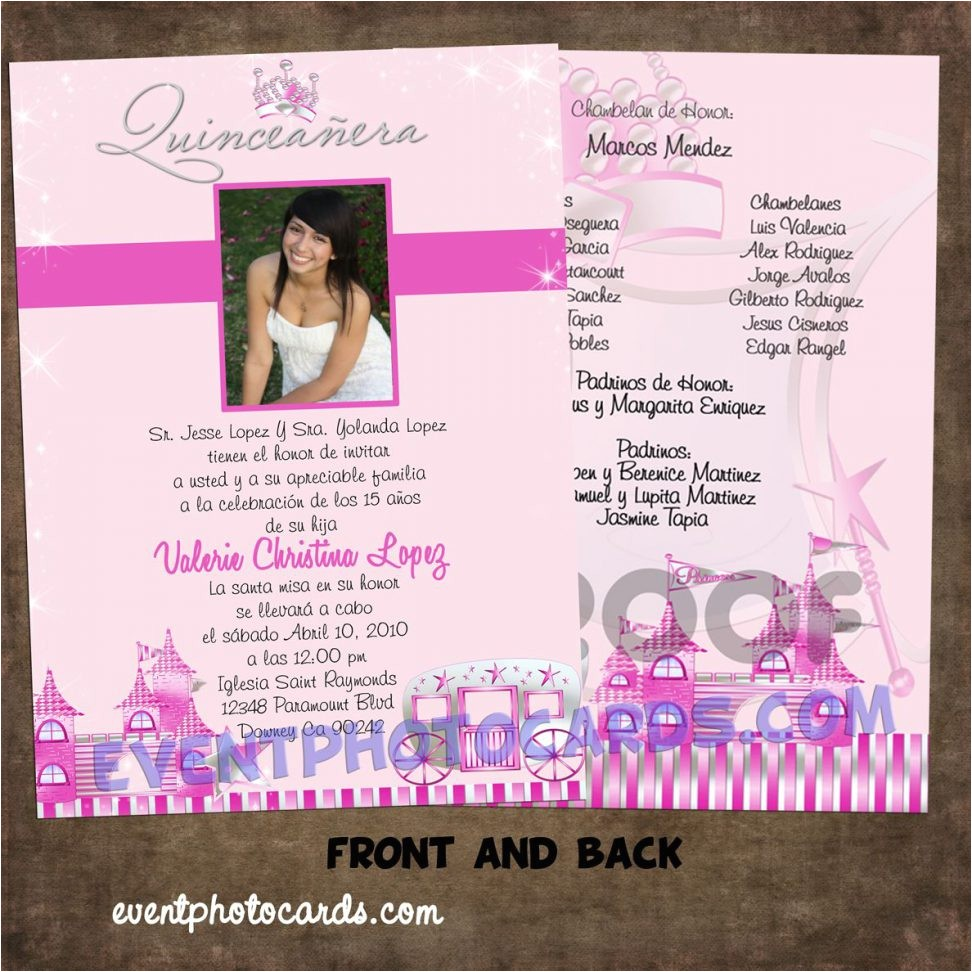 quinceaneras invitations