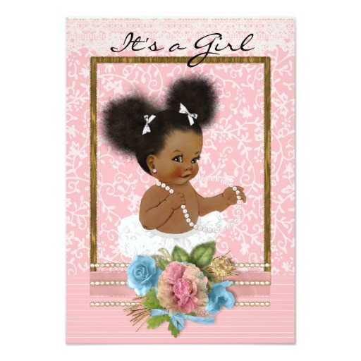 African American Baby Shower Invites African American Baby Shower Invitation