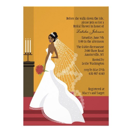 bridal shower invitations african