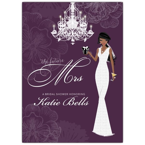 Love and Lace African American Shower Invitations p 606 57 BS100 AFR