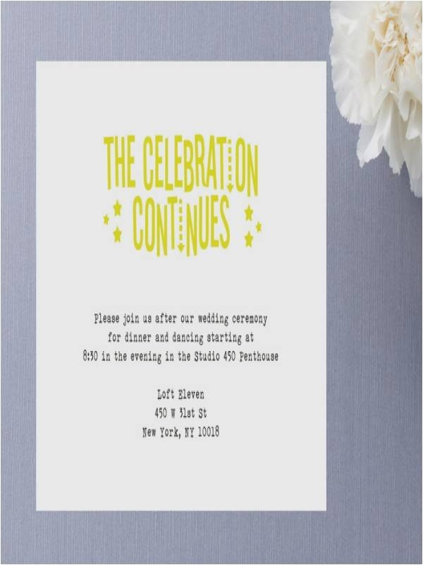 invitation wording for party after destination wedding