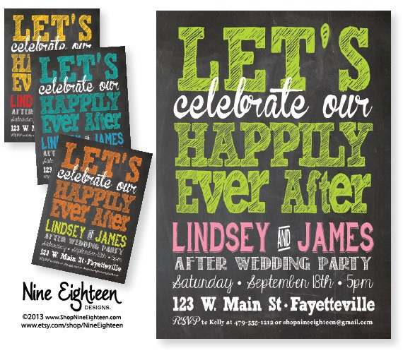 after wedding party invitation lets