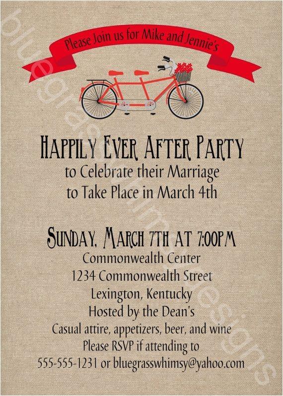 post wedding party invitations