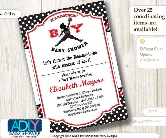 bouncin boy baby shower invitationair