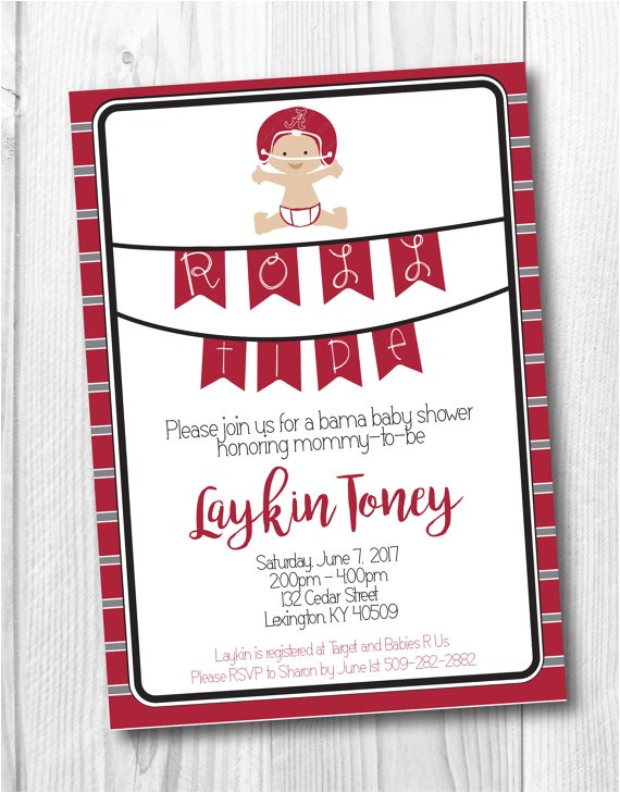 alabama baby shower invitation bama baby