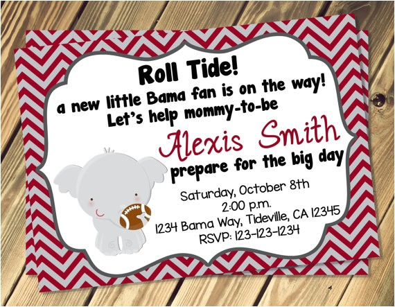alabama baby shower invitation print