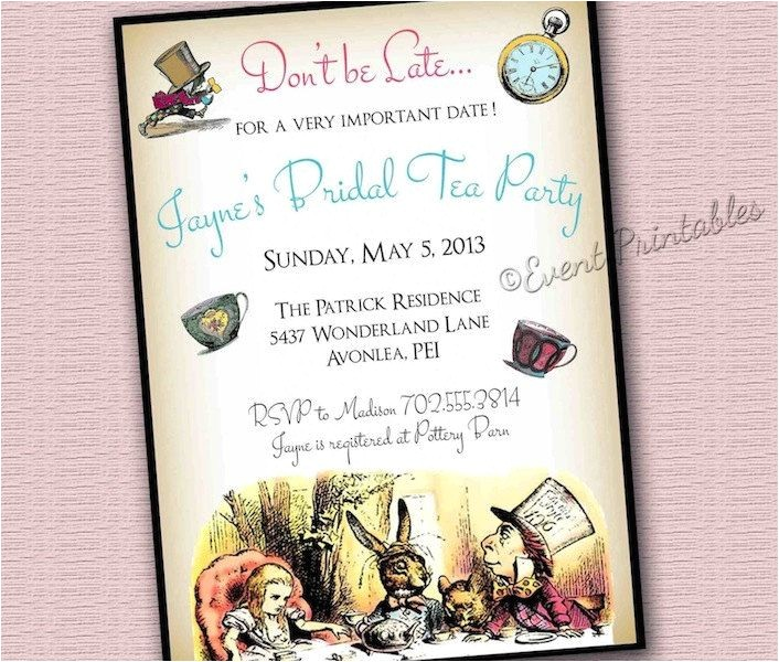 free alice in wonderland bridal shower