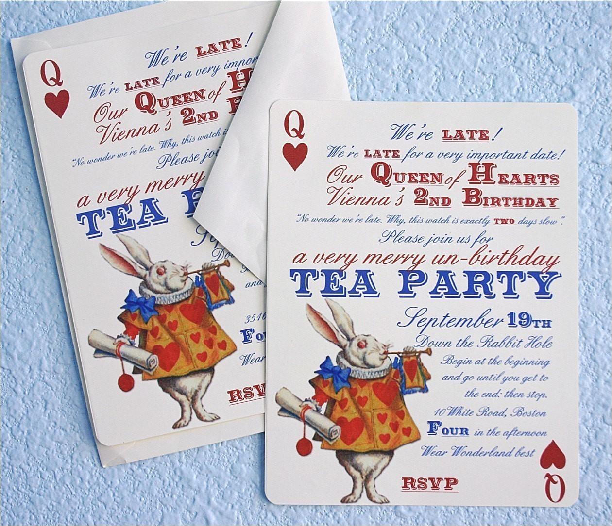 alice in wonderland un birthday tea