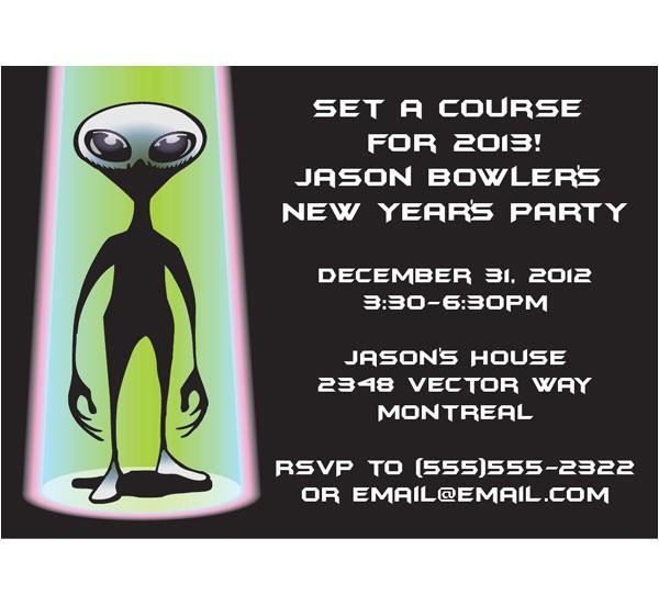 space aliens invitation