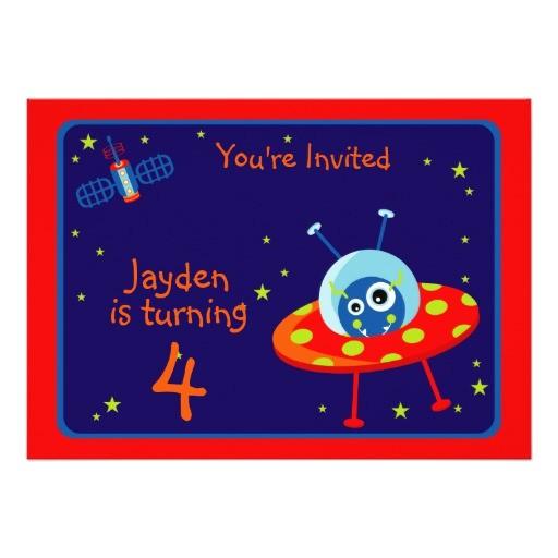 alien spaceship birthday party invitation 161470786515832021