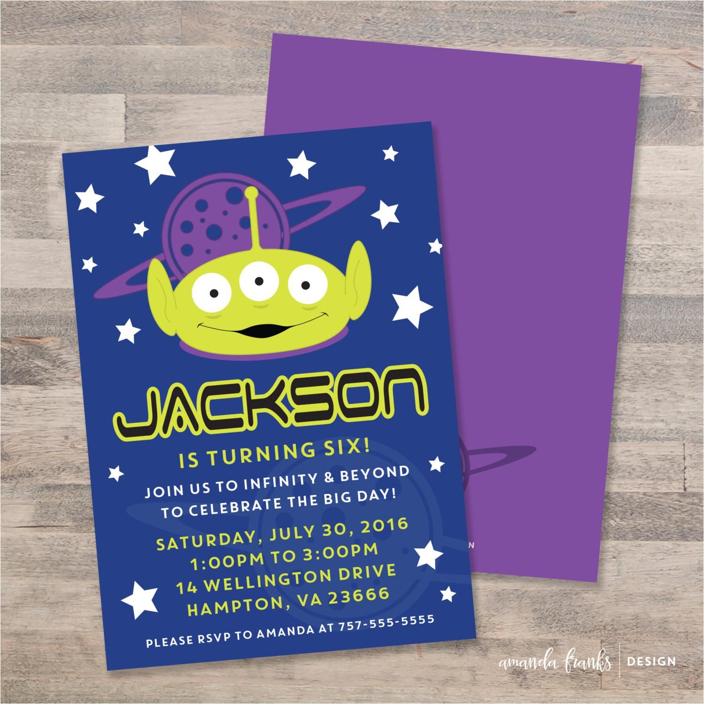 alien birthday invitations