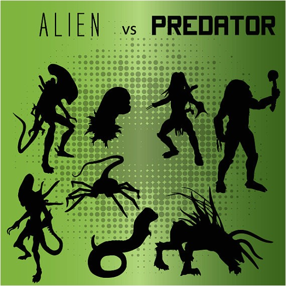 alien vs predator silhouettes 8 png