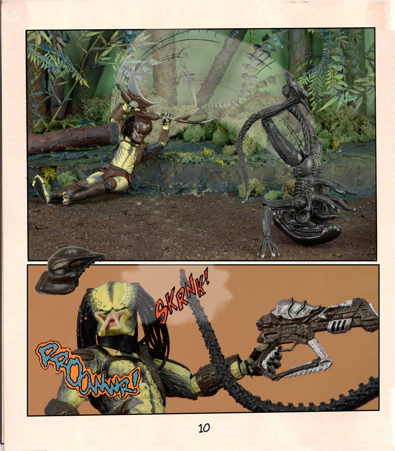 special tribute gallery aliens vs predator mini ic using action figures