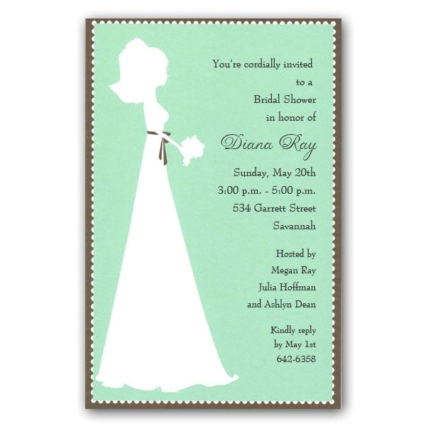 All Dressed in White Bridal Shower Party Invitations p 39 1 1500