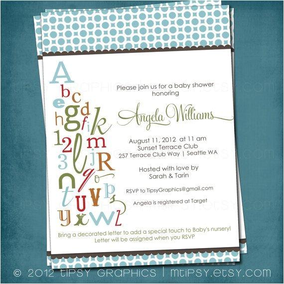 alphabet bridal shower