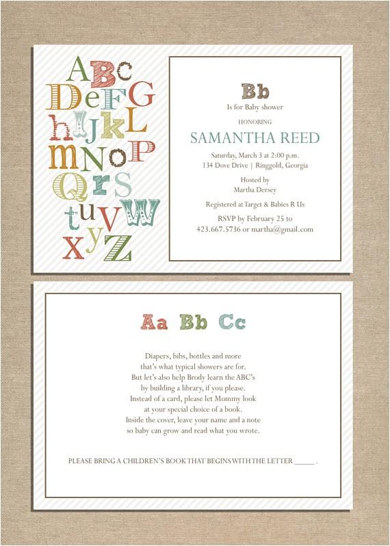 invite abc baby shower invitation