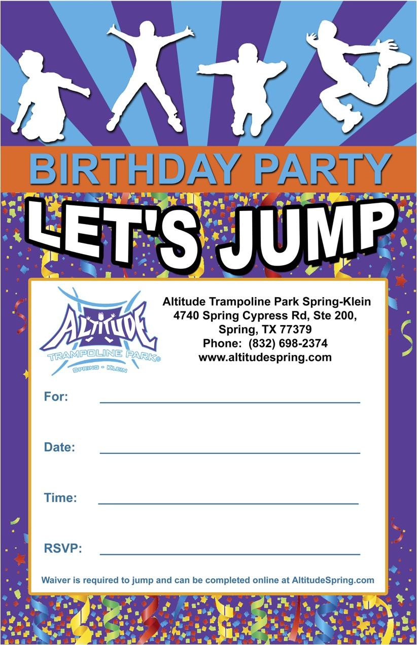 jumper birthday party invitation