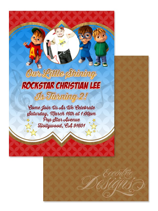alvin and chipmunks invitations tshirt